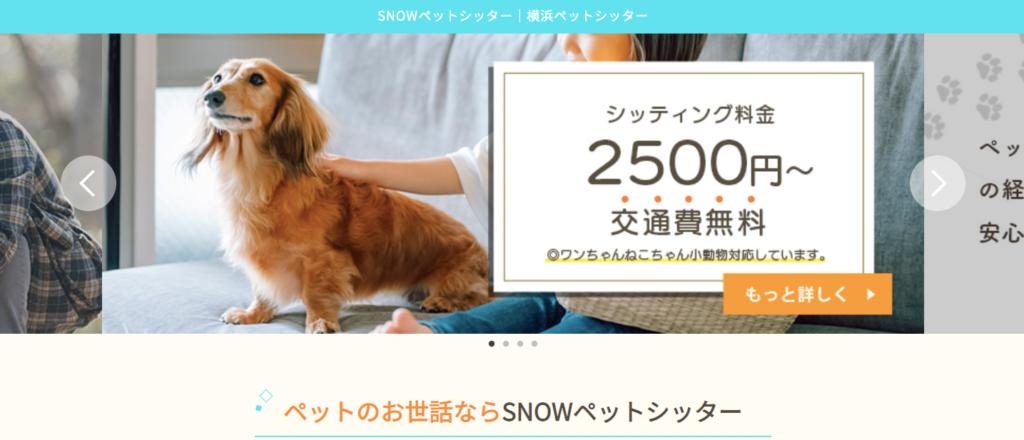 横浜川崎のSNOWペットシッター